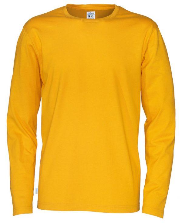 t-shirt met lange mouwen - geel - heren