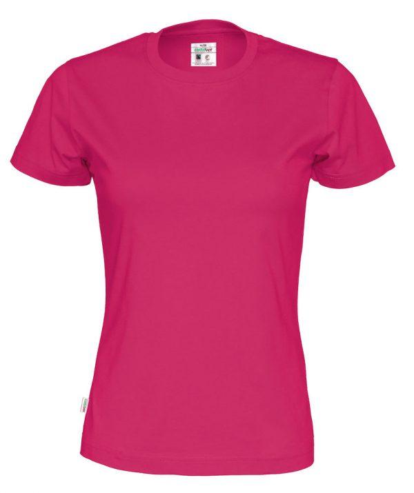 T-shirt met ronde hals - donker roze - vrouwen