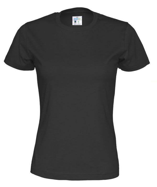T-shirt met ronde hals - zwart - vrouwen