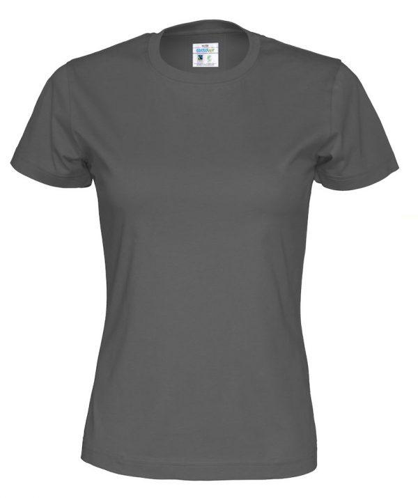 T-shirt met ronde hals - grijs - vrouwen