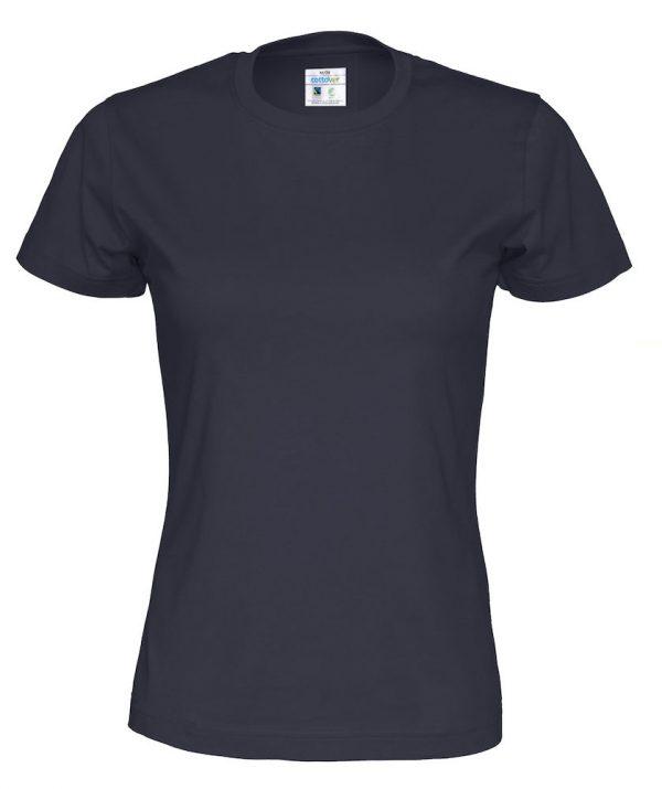 T-shirt met ronde hals - navy - vrouwen