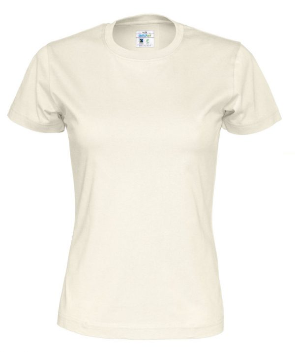 T-shirt met ronde hals - gebroken wit - vrouwen