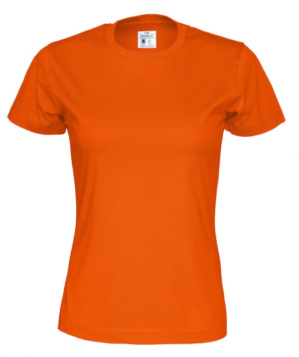 T-shirt met ronde hals - oranje - vrouwen