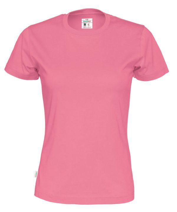 T-shirt met ronde hals - roze - vrouwen