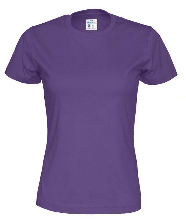 T-shirt met ronde hals - paars - vrouwen