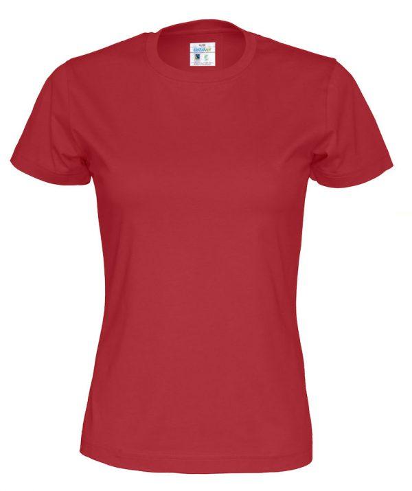 T-shirt met ronde hals - rood - vrouwen