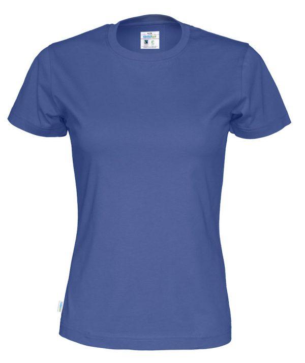 T-shirt met ronde hals - koningsblauw - vrouwen