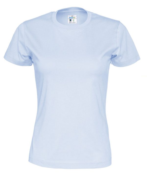 T-shirt met ronde hals - hemelsblauw - vrouwen