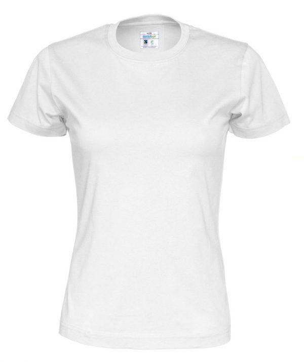 T-shirt met ronde hals - wit - vrouwen