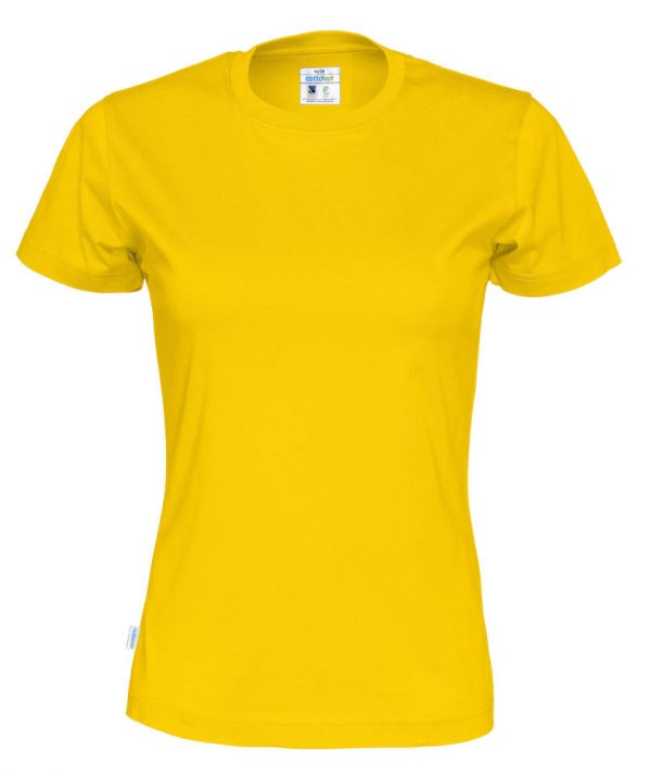 T-shirt met ronde hals - geel - vrouwen