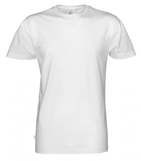 T-shirt met ronde hals- wit - heren
