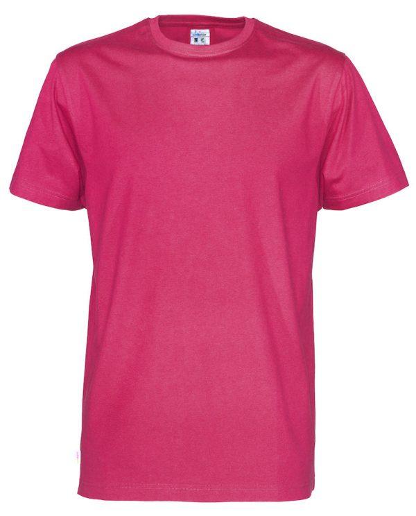 T-shirt met ronde hals - donker roze - heren