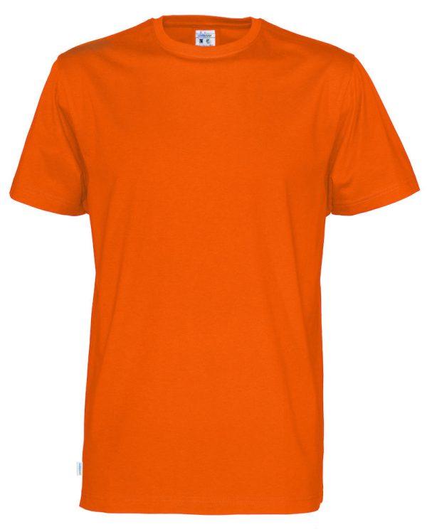 T-shirt met ronde hals- oranje - heren