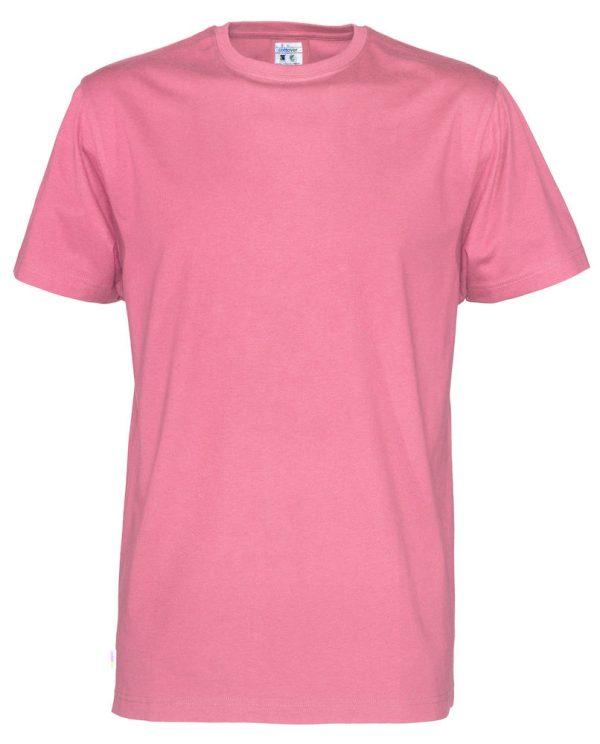 T-shirt met ronde hals- roze - heren