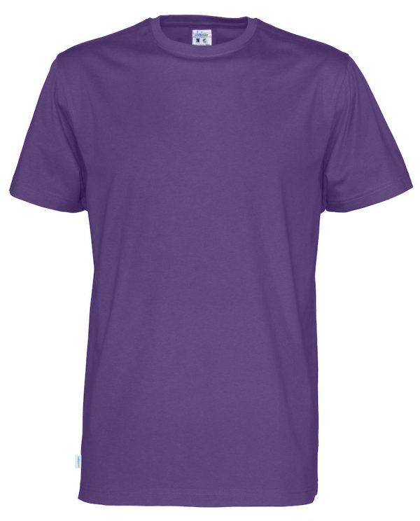 T-shirt met ronde hals- paars - heren