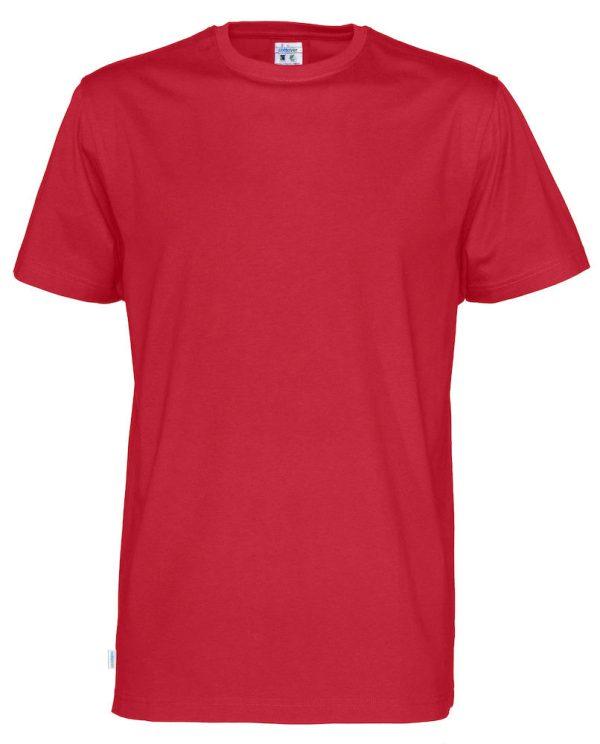 T-shirt met ronde hals- rood - heren