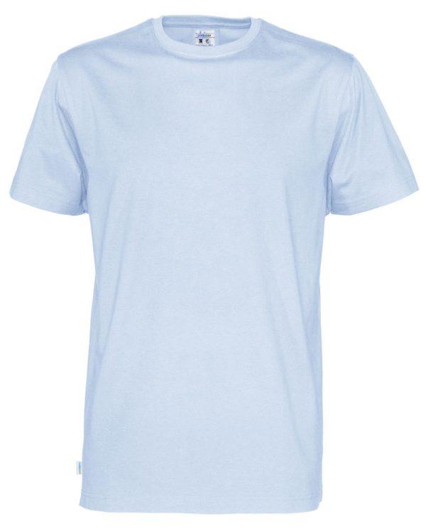 T-shirt met ronde hals- licht blauw - heren