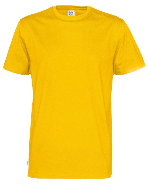 T-shirt met ronde hals- geel - heren