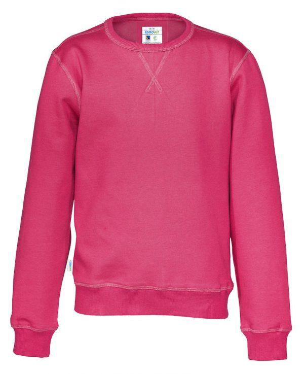 Sweater met ronde hals - donker roze - kinderen