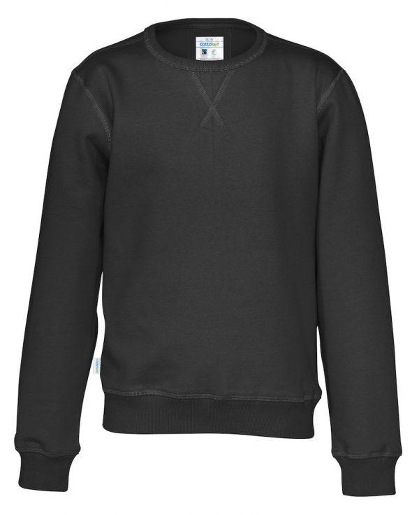 Sweater met ronde hals - zwart - kinderen