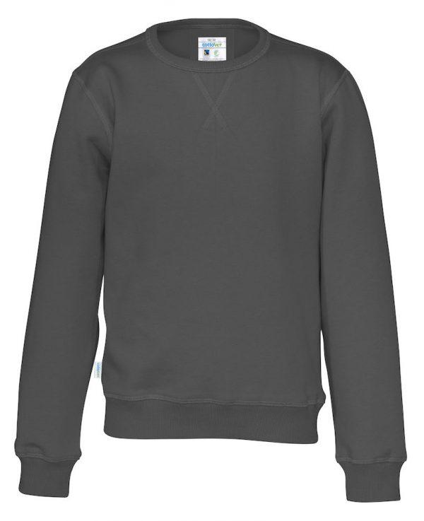 Sweater met ronde hals - grijs - kinderen