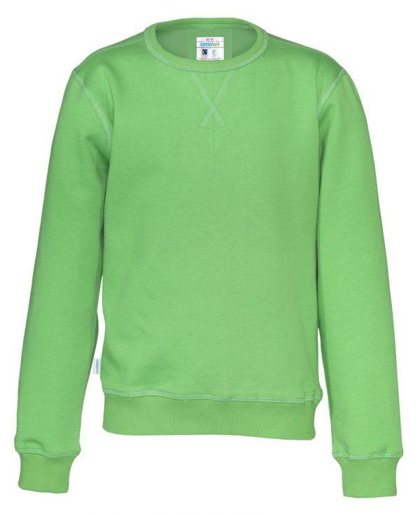 Sweater met ronde hals - groen - kinderen