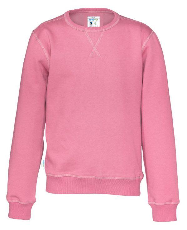 Sweater met ronde hals - roze - kinderen