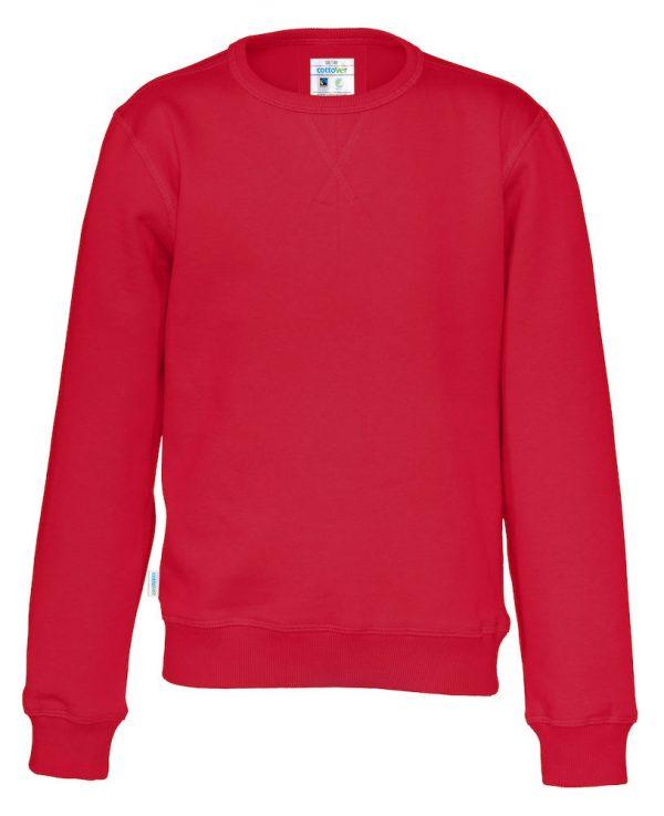 Sweater met ronde hals - rood - kinderen