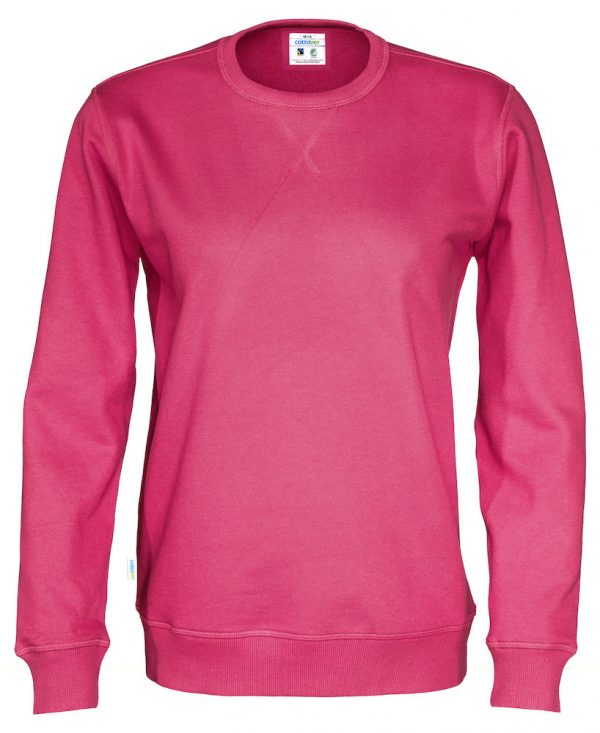 Sweater met ronde hals - donker roze
