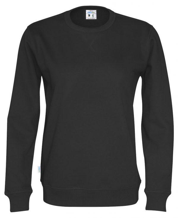 sweater met ronde hals - zwart