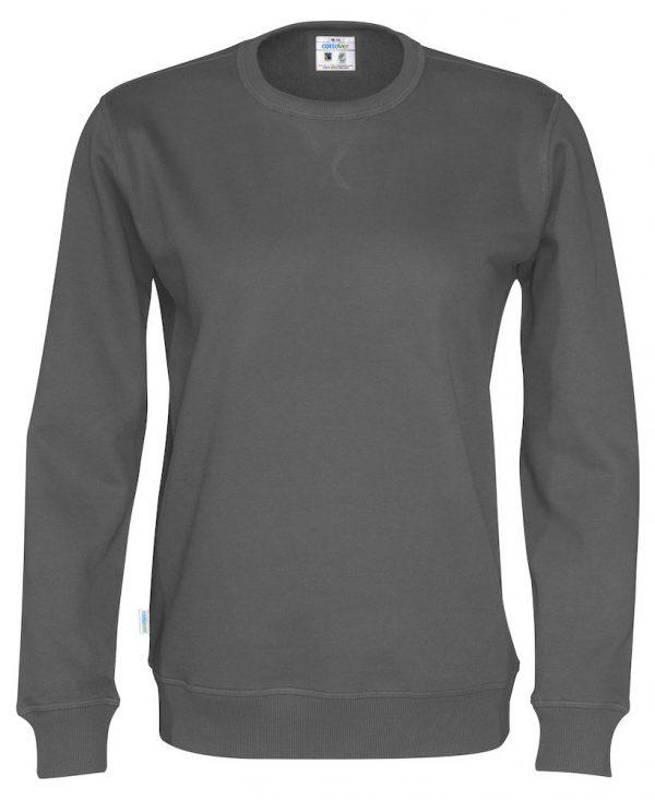 Sweater met ronde hals - grijs