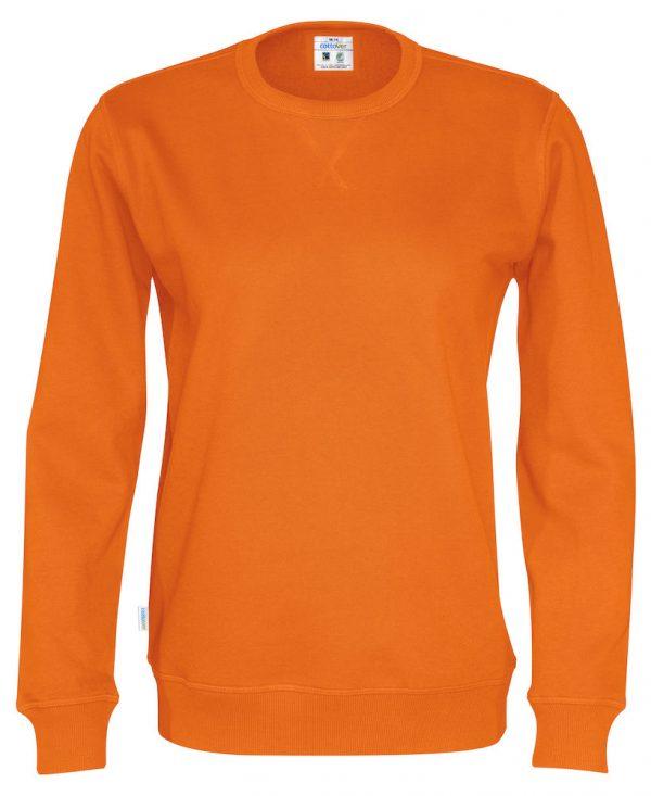 Sweater met ronde hals - oranje