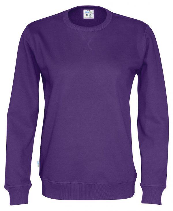 Sweater met ronde hals - paars