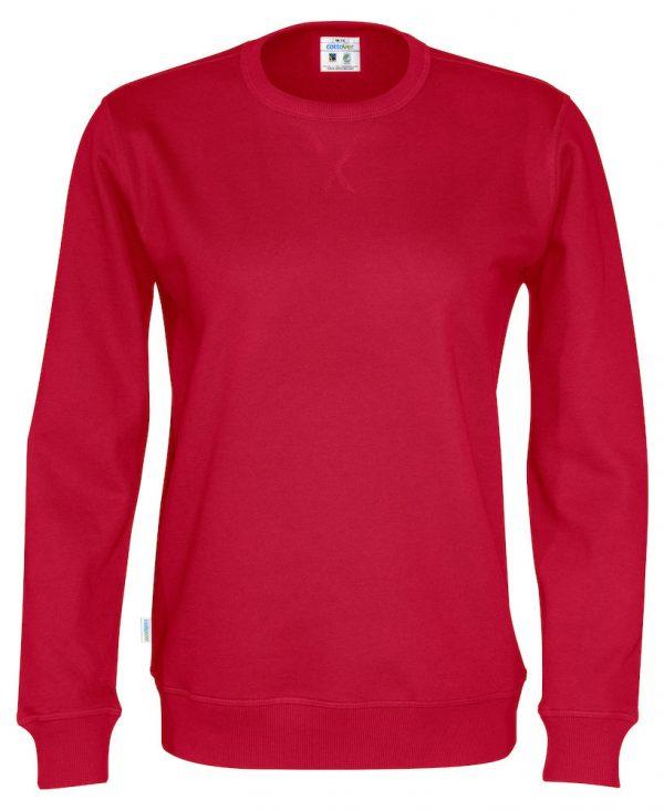 Sweater met ronde hals - rood