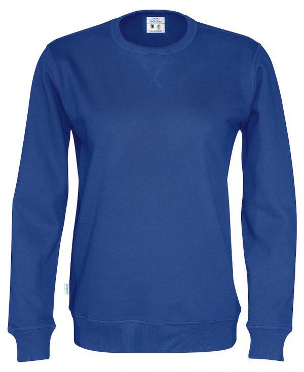 Sweater met ronde hals - koningsblauw