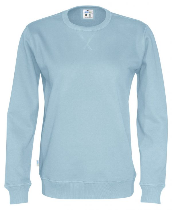 Sweater met ronde hals - licht blauw