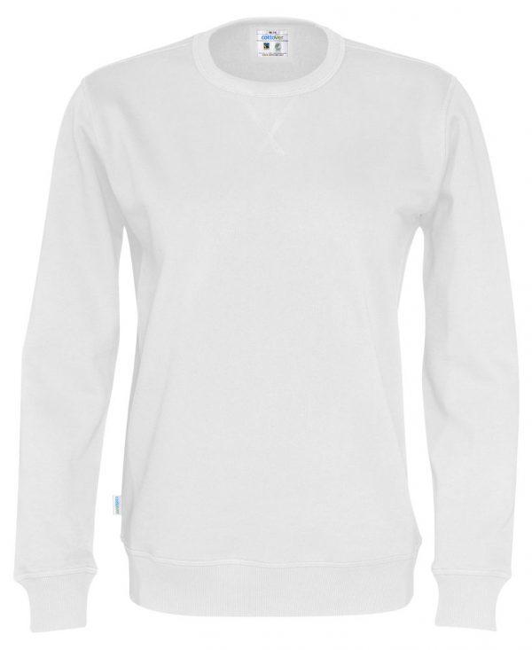 Sweater met ronde hals - wit