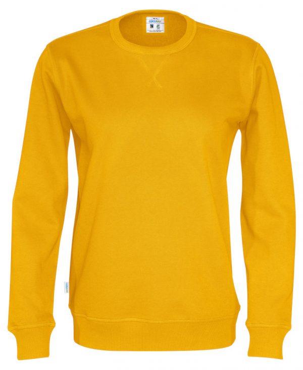 Sweater met ronde hals - geel