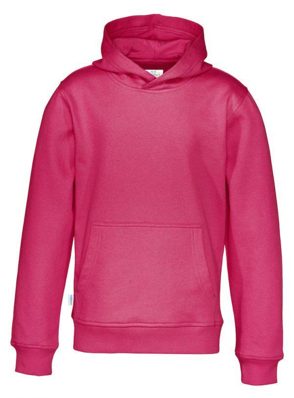 Hoodie zonder rits - donker roze - kinderen