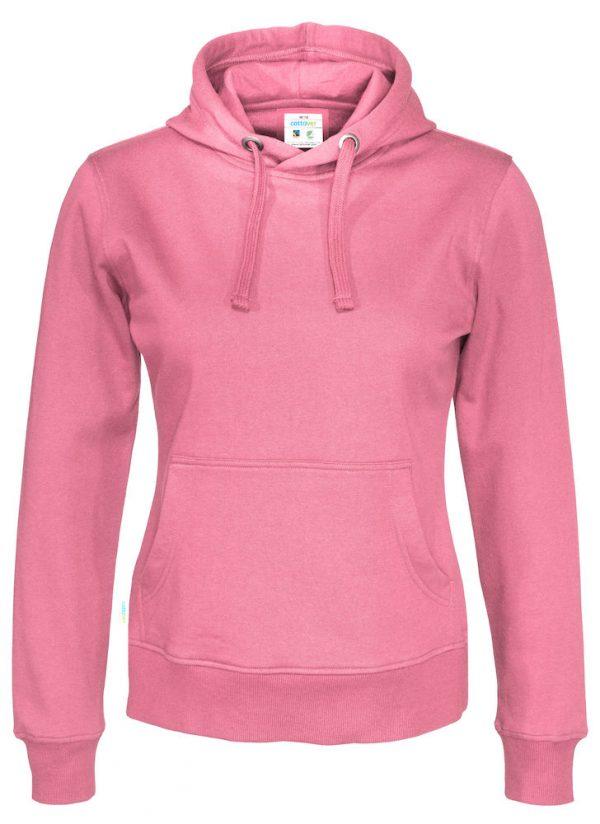 Hoodie zonder rits - roze - dames