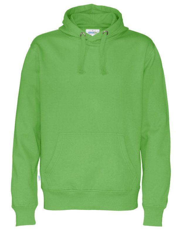 Hoodie zonder rits - groen - heren
