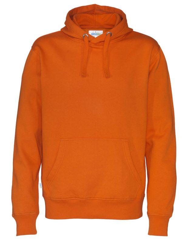 Hoodie zonder rits - oranje - heren
