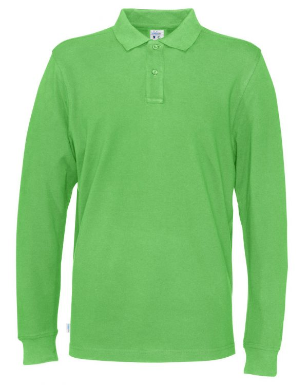 Polo met lange mouwen - groen - heren