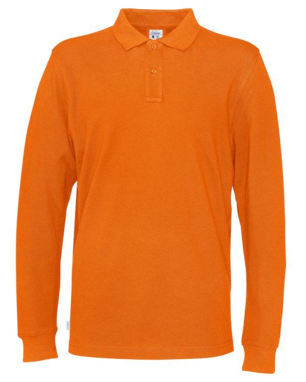 Polo met lange mouwen - oranje - heren