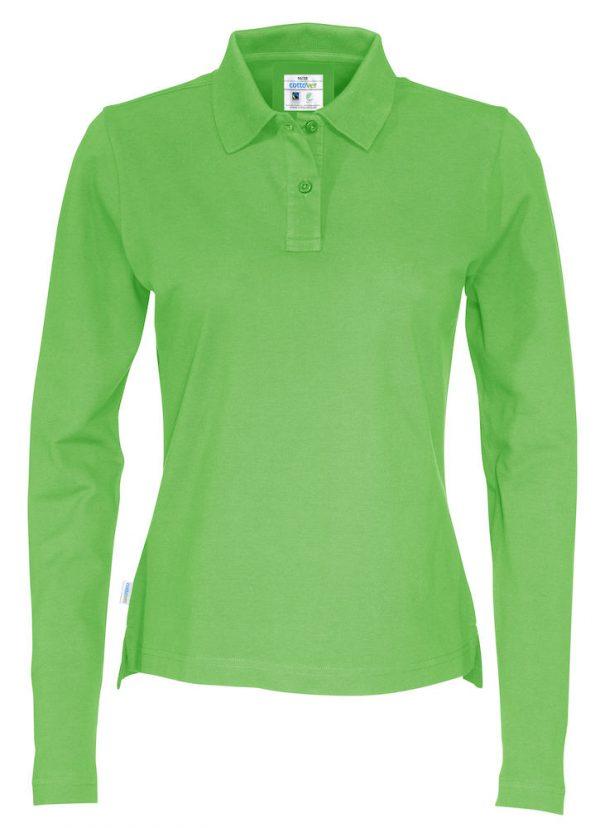 Polo met lange mouwen - groen - dames