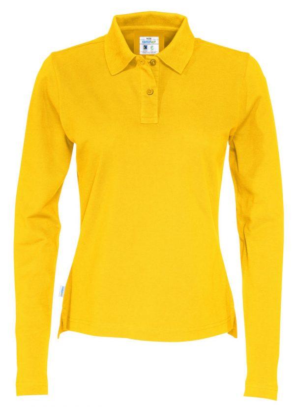 Polo met lange mouwen - geel - dames