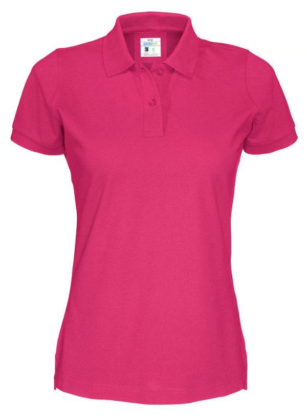 Polo met korte mouwen - donker roze - dames