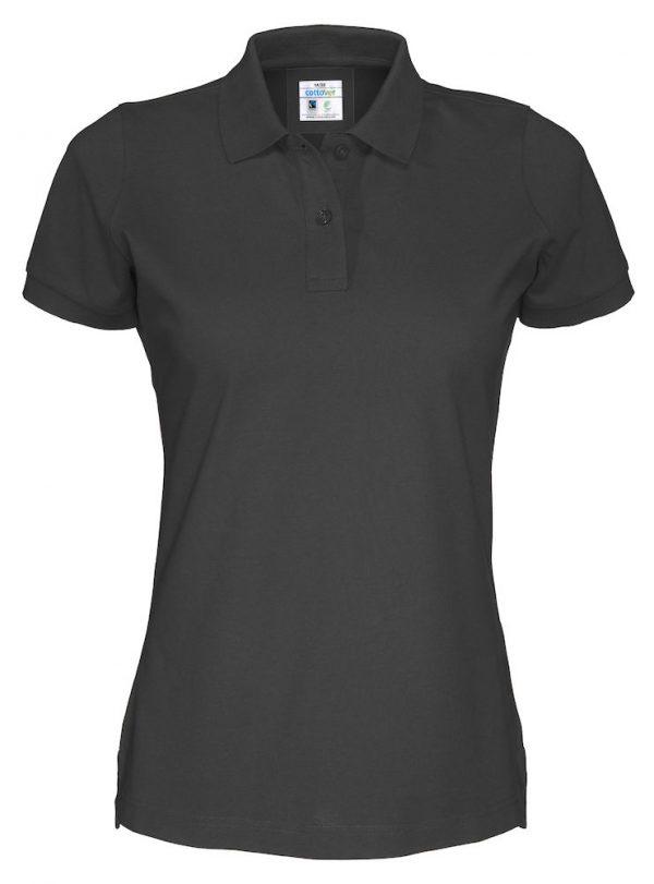 Polo met korte mouwen - zwart - dames