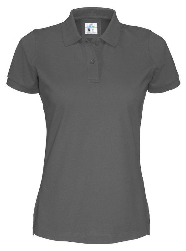 Polo met korte mouwen - grijs - dames
