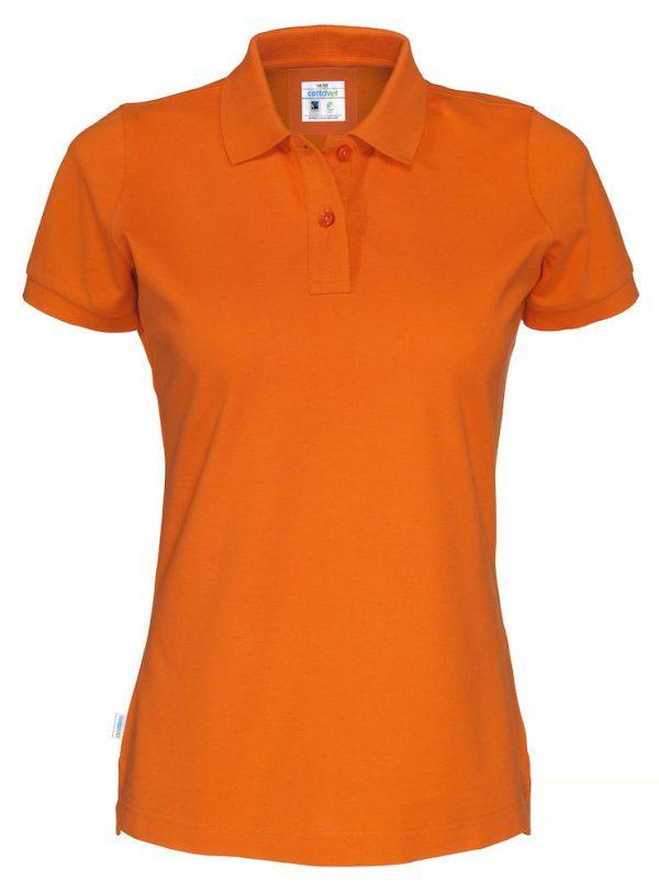 Polo met korte mouwen - oranje - dames